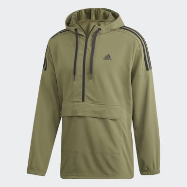Men's Athletics Green Sport ID Woven Anorak