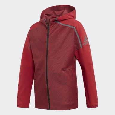 Бордовый Худи adidas Z.N.E. Hybrid