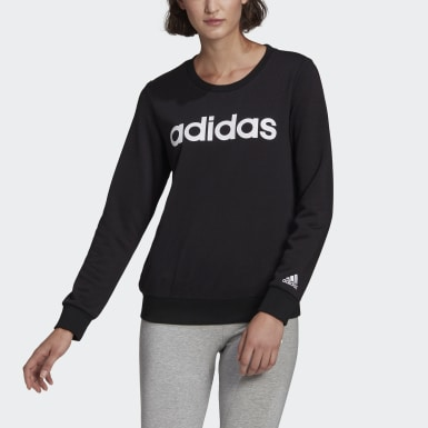 Women Sport Inspired Black Essentials Logo Sweatshirt