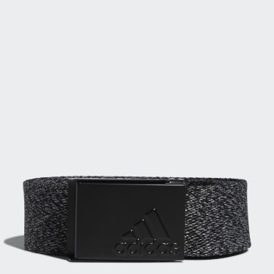 Men Golf Black Heathered Web Belt