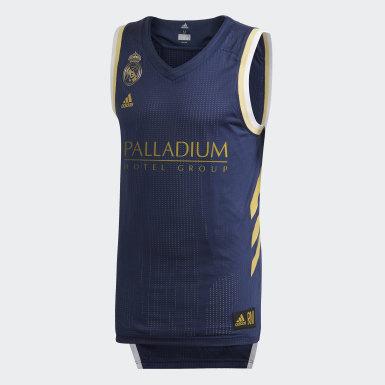 Maillot Real Madrid Game Bleu Hommes Basketball