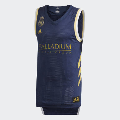 Männer Basketball Real Madrid Spielertrikot Blau