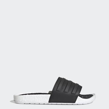 ว่ายน้ำ สีขาว รองเท้าแตะ Adilette Boost