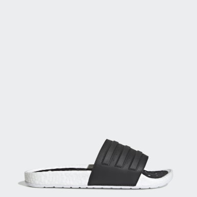 Swimming White Adilette Boost Slides
