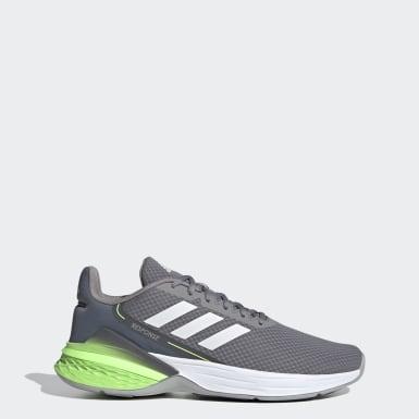 ผู้ชาย วิ่ง สีเทา รองเท้า Response SR