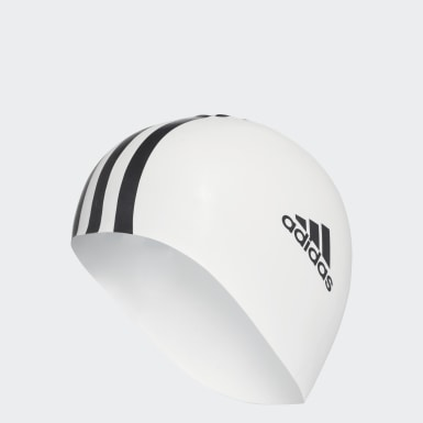 adidas silicone 3 stripes swim cap