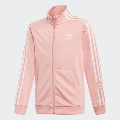 Chlapci Originals ružová Tepláková bunda