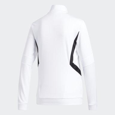 Ženy Fotbal bílá Sportovní bunda Tiro