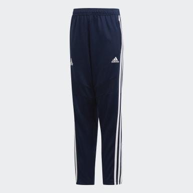 Boys Fodbold Blå TAN træningsbukser