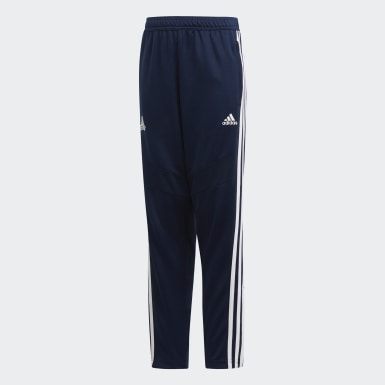 Boys Fotboll Blå TAN Training Pants