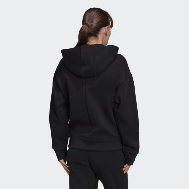 Women Athletics Black Versatility Full-Zip Hoodie