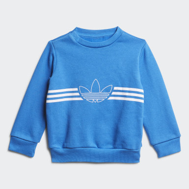 Completo Outline Crewneck Blu Bambini Originals