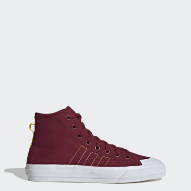 Women Originals Burgundy Nizza Hi RF Shoes