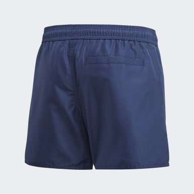 Boys Swimming Blue Classic Badge of Sport Swim Shorts