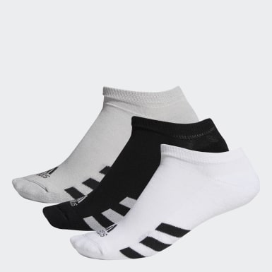 Men Golf Black No-Show Socks 3 Pairs