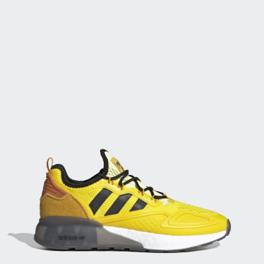 Men Originals Yellow Ninja ZX 2K Boost Shoes