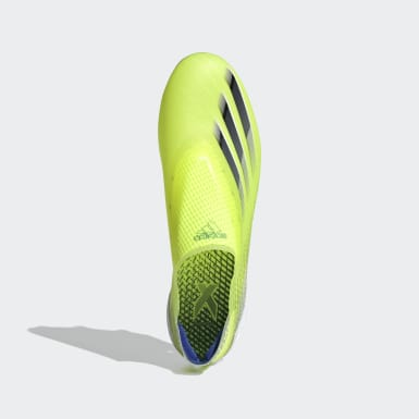 Men Football Yellow X Ghosted+ Soft Ground Boots