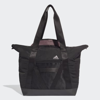 Women Yoga Black ID Tote Bag
