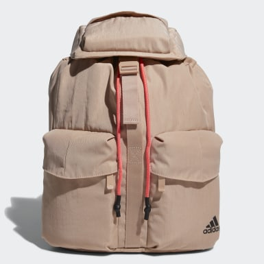 Women Training Beige Flap Backpack