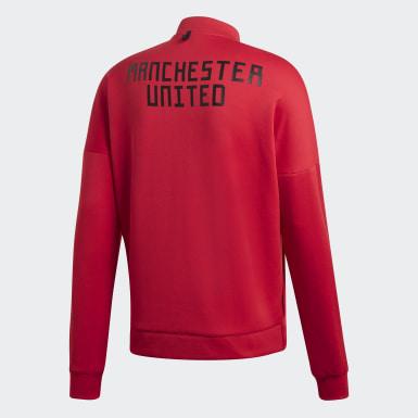 Chamarra Manchester United adidas Z.N.E. Rojo Hombre Fútbol