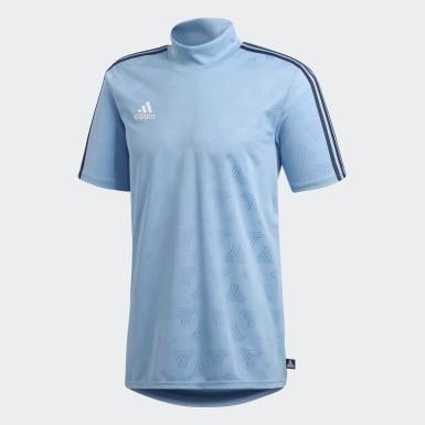 Playera Tango Jacquard Azul Hombre Fútbol