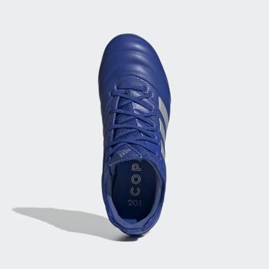 Bota de fútbol Copa 20.1 césped natural seco Azul Niño Fútbol