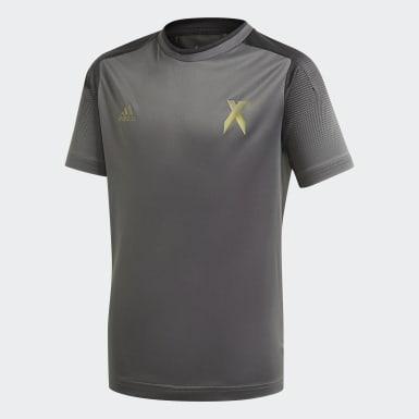 Maillot Football Inspired X AEROREADY Gris Garçons Training