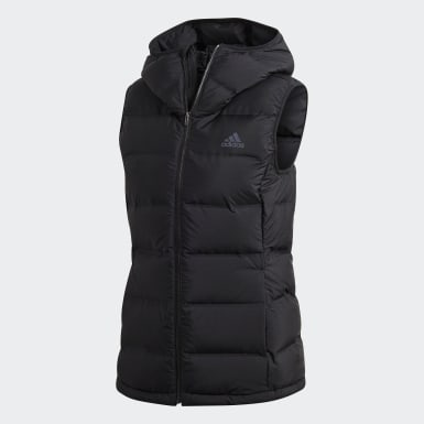 Women Urban Outdoor Black HELIONIC Down Hooded Vest