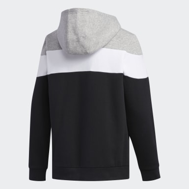 Youth Training Black Linear Hoodie