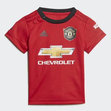 Děti Fotbal červená Domácí souprava Manchester United Baby