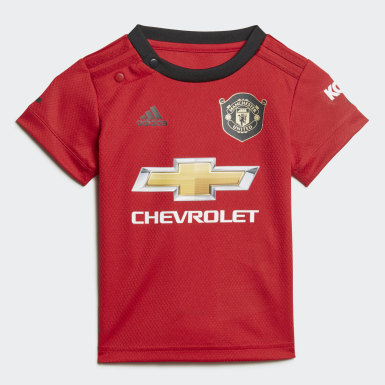 Kinderen Voetbal Rood Manchester United Baby Thuistenue
