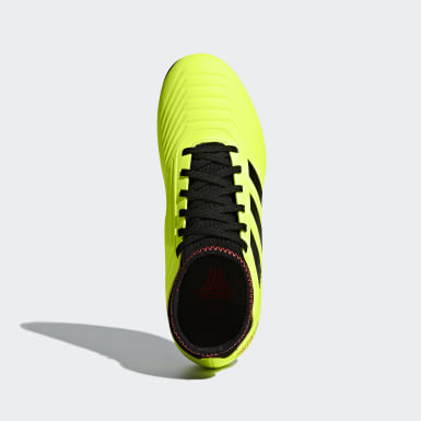 Boys Football Yellow Predator Tango 18.3 Turf Boots