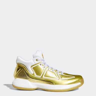 Men Basketball Gold D Rose 10 Metallic Shoes