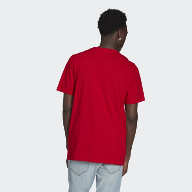 Men's Originals Red Adicolor Essentials Trefoil Tee
