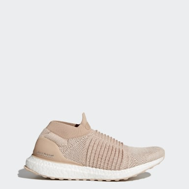Women's Running Beige Ultraboost Laceless Shoes