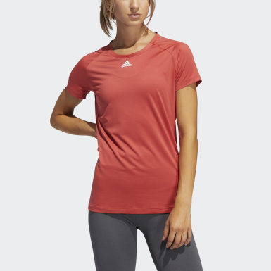 Women Training Red Performance Tee