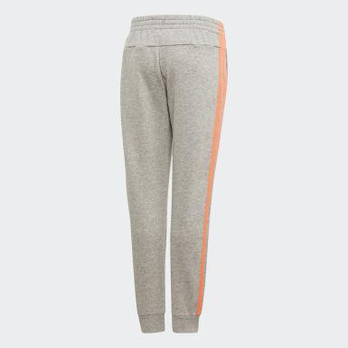 Girls Athletics Grå Essentials 3-Stripes bukser