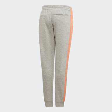 Girls Athletics Grey Essentials 3-Stripes Joggers