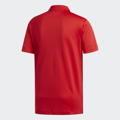 Men Golf Red Performance Polo Shirt