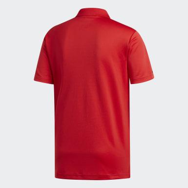 Men Golf Red Performance Polo Shirt