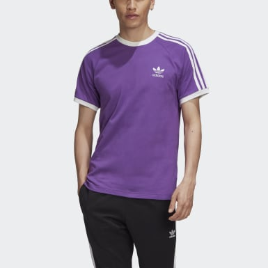 3-Stripes Tee Fioletowy