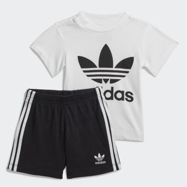 Conjunto Polera y Shorts Trifolio Blanco Niño Originals