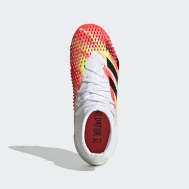 Children Soccer White Predator Mutator 20.1 Firm Ground Cleats