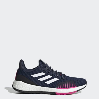 Women Running Blue Pulseboost HD Winter Shoes