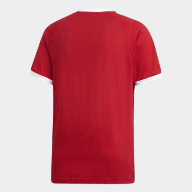 Heren Originals Rood 3-Stripes T-shirt