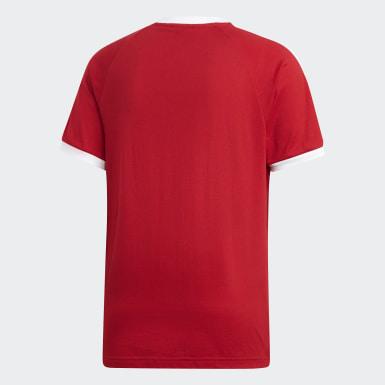 3-Stripes T-skjorte Rød