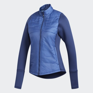 Women Golf Blue Hybrid Quilted Jacket