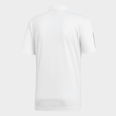 Heren Padel Tennis Wit 3-Stripes Club Poloshirt