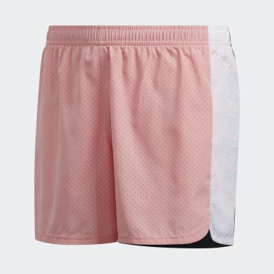 Children Training Pink Colorblock Shorts
