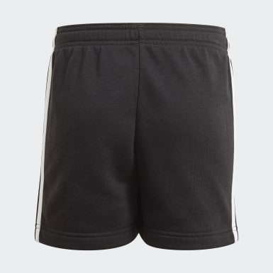 Shorts adidas Essentials 3-Stripes Preto Meninas Training